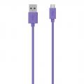 Купить Кабель micro USB фиолетовый 120cm Belkin провод для зарядки и синхронизации на Apple-Land.ru