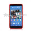Купить Силиконовый чехол для Sony Xperia E4, Xperia E4 Dual S-обраный красный на Apple-Land.ru