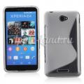 Купить Силиконовый чехол для Sony Xperia E4, Xperia E4 Dual S-обраный прозрачный на Apple-Land.ru