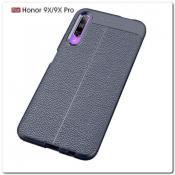 Купить Чехол Книжка Book Wallet с Визитницей и Кошельком для Huawei Honor 9X / Huawei Honor 9X Pro Синий на Apple-Land.ru