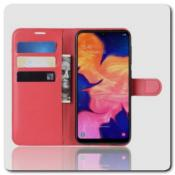 Чехол Книжка Book Wallet с Визитницей и Кошельком для Samsung Galaxy A10 Красный