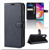 Купить Чехол Книжка Book Wallet с Визитницей и Кошельком для Samsung Galaxy A70 Черный на Apple-Land.ru