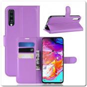 Купить Чехол Книжка Book Wallet с Визитницей и Кошельком для Samsung Galaxy A70 Фиолетовый на Apple-Land.ru