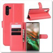 Чехол Книжка Book Wallet с Визитницей и Кошельком для Samsung Galaxy Note 10 Красный