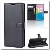 Купить Чехол Книжка Book Wallet с Визитницей и Кошельком для Samsung Galaxy Note 10+ / Note 10 Plus Черный на Apple-Land.ru