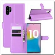 Купить Чехол Книжка Book Wallet с Визитницей и Кошельком для Samsung Galaxy Note 10+ / Note 10 Plus Фиолетовый на Apple-Land.ru