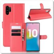 Купить Чехол Книжка Book Wallet с Визитницей и Кошельком для Samsung Galaxy Note 10+ / Note 10 Plus Красный на Apple-Land.ru