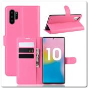 Купить Чехол Книжка Book Wallet с Визитницей и Кошельком для Samsung Galaxy Note 10+ / Note 10 Plus Ярко-Розовый на Apple-Land.ru