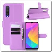 Купить Чехол Книжка Book Wallet с Визитницей и Кошельком для Xiaomi Mi A3 Фиолетовый на Apple-Land.ru