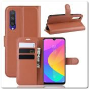Купить Чехол Книжка Book Wallet с Визитницей и Кошельком для Xiaomi Mi A3 Коричневый на Apple-Land.ru