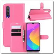 Купить Чехол Книжка Book Wallet с Визитницей и Кошельком для Xiaomi Mi A3 Ярко-Розовый на Apple-Land.ru