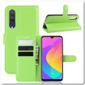 Купить Чехол Книжка Book Wallet с Визитницей и Кошельком для Xiaomi Mi A3 Зеленый на Apple-Land.ru