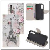 Купить Чехол Книжка Color Wallet с Магнитным Язычком для Huawei Honor 20 с Рисунком Париж на Apple-Land.ru