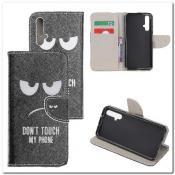 Купить Чехол Книжка Color Wallet с Магнитным Язычком для Huawei Honor 20 с Рисунком Touch My Phone на Apple-Land.ru
