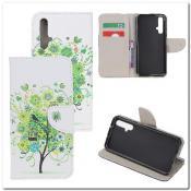 Купить Чехол Книжка Color Wallet с Магнитным Язычком для Huawei Honor 20 с Рисунком Зеленое Дерево на Apple-Land.ru