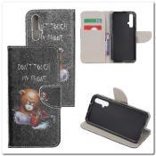 Купить Чехол Книжка Color Wallet с Магнитным Язычком для Huawei Honor 20 с Рисунком Злой Мишка на Apple-Land.ru