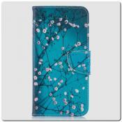 Купить Чехол Книжка Color Wallet с Магнитным Язычком для Samsung Galaxy A10 с Рисунком Дерево С Цветами на Apple-Land.ru
