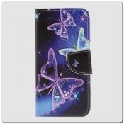 Чехол Книжка Color Wallet с Магнитным Язычком для Samsung Galaxy A10 с Рисунком Прекрасная Бабочка