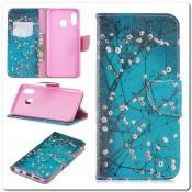 Купить Чехол Книжка Color Wallet с Магнитным Язычком для Samsung Galaxy A30 / Galaxy A20 с Рисунком Дерево С Цветами на Apple-Land.ru