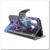 Чехол Книжка Color Wallet с Магнитным Язычком для Samsung Galaxy A30 / Galaxy A20 с Рисунком Прекрасная Бабочка
