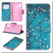 Купить Чехол Книжка Color Wallet с Магнитным Язычком для Samsung Galaxy A40 с Рисунком Дерево С Цветами на Apple-Land.ru