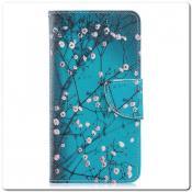 Чехол Книжка Color Wallet с Магнитным Язычком для Samsung Galaxy A40 с Рисунком Дерево С Цветами