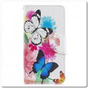 Чехол Книжка Color Wallet с Магнитным Язычком для Samsung Galaxy A40 с Рисунком Яркие Бабочки