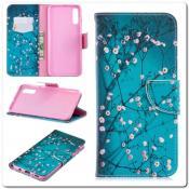 Купить Чехол Книжка Color Wallet с Магнитным Язычком для Samsung Galaxy A70 с Рисунком Дерево С Цветами на Apple-Land.ru