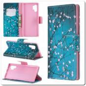 Купить Чехол Книжка Color Wallet с Магнитным Язычком для Samsung Galaxy Note 10+ / Note 10 Plus с Рисунком Цветочные Ветки на Apple-Land.ru