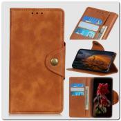 Купить Чехол Книжка Flip Wallet с Отделениями для Карт на Samsung Galaxy A10 Коричневый на Apple-Land.ru