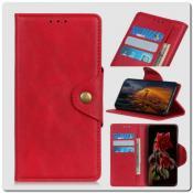 Купить Чехол Книжка Flip Wallet с Отделениями для Карт на Samsung Galaxy A10 Красный на Apple-Land.ru