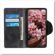 Чехол Книжка Flip Wallet с Отделениями для Карт на Samsung Galaxy A70 Черный