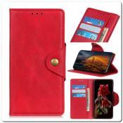 Купить Чехол Книжка Flip Wallet с Отделениями для Карт на Samsung Galaxy A70 Красный на Apple-Land.ru