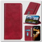 Купить Чехол Книжка с Скрытыми Магнитами Авто Закрытие для Huawei Honor 9X Pro Красный на Apple-Land.ru
