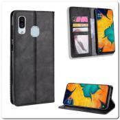 Купить Чехол Книжка с Скрытыми Магнитами Авто Закрытие для Samsung Galaxy A40 Черный на Apple-Land.ru