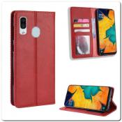 Купить Чехол Книжка с Скрытыми Магнитами Авто Закрытие для Samsung Galaxy A40 Красный на Apple-Land.ru