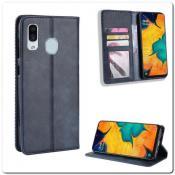 Купить Чехол Книжка с Скрытыми Магнитами Авто Закрытие для Samsung Galaxy A40 Синий на Apple-Land.ru