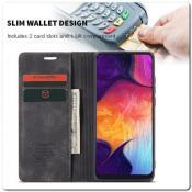 Чехол Книжка с Скрытыми Магнитами Авто Закрытие для Samsung Galaxy A50 Черный