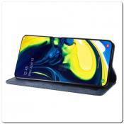 Чехол Книжка с Скрытыми Магнитами Авто Закрытие для Samsung Galaxy A80 Синий