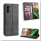 Купить Чехол Книжка с Скрытыми Магнитами Авто Закрытие для Samsung Galaxy Note 10 Черный на Apple-Land.ru