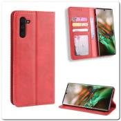 Купить Чехол Книжка с Скрытыми Магнитами Авто Закрытие для Samsung Galaxy Note 10 Красный на Apple-Land.ru