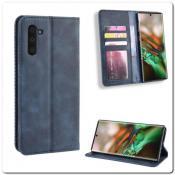 Купить Чехол Книжка с Скрытыми Магнитами Авто Закрытие для Samsung Galaxy Note 10 Синий на Apple-Land.ru
