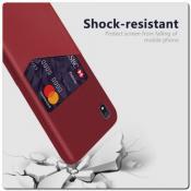Купить Гибридный Чехол для Задней Панели Телефона с Карманом для Карты для Samsung Galaxy A10 Красный на Apple-Land.ru