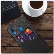 Гибридный Чехол для Задней Панели Телефона с Карманом для Карты для Samsung Galaxy A30 / Galaxy A20 Черный