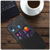 Гибридный Чехол для Задней Панели Телефона с Карманом для Карты для Samsung Galaxy A40 Черный