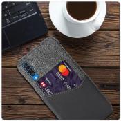 Гибридный Чехол для Задней Панели Телефона с Карманом для Карты для Samsung Galaxy A50 Серый