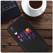 Купить Гибридный Чехол для Задней Панели Телефона с Карманом для Карты для Xiaomi Mi A3 Черный на Apple-Land.ru