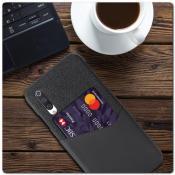Купить Гибридный Чехол для Задней Панели Телефона с Карманом для Карты для Xiaomi Mi A3 Серый на Apple-Land.ru