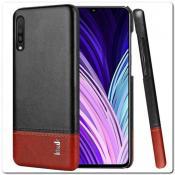 Купить IMAK Ruiy PU Кожаный Чехол из Ударопрочного Пластика для Samsung Galaxy A50 - Черный на Apple-Land.ru