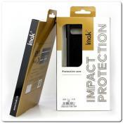 IMAK Ruiy PU Кожаный Чехол из Ударопрочного Пластика для Samsung Galaxy A50 - Черный